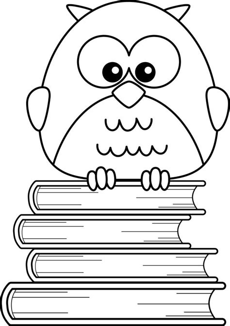 free coloring pages of cute cartoon owls