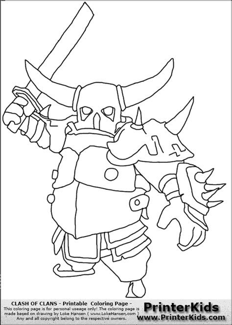clash of clans archer queen coloring page preview free coloring pages of clash of clan troops