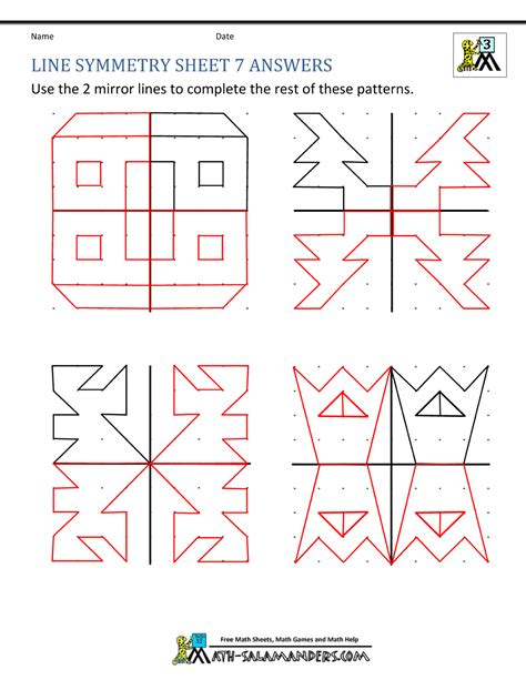 Rotational Symmetry Worksheets by Symmetry Worksheets