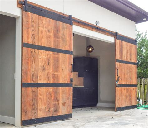 Cc Cabinets Hawaii by Custom Pool House Barn Doors Industrial Exterior