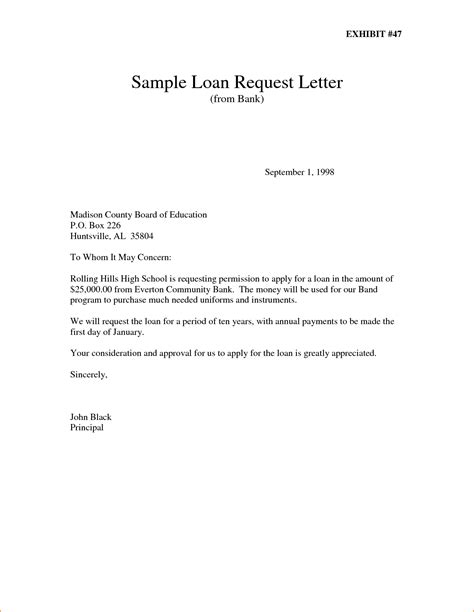 Loan Letter To A Bank 10 Application Letter Sle For Bank Basic