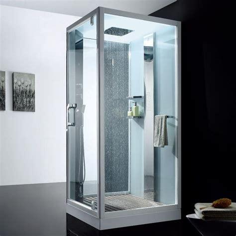 Bien Silicone Salle De Bain #7: cabine-de-douche-hammam-flora-100-cm-blanche.jpg