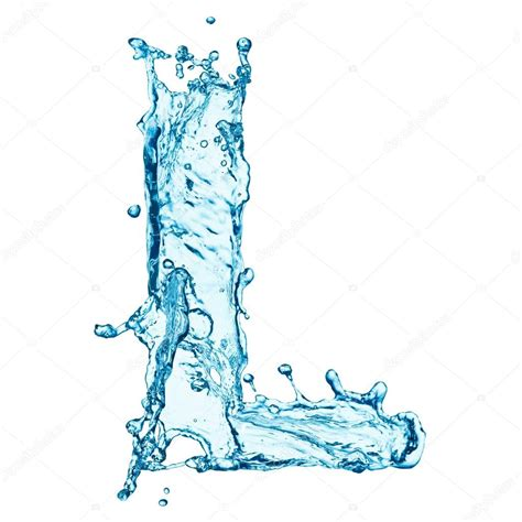 Water L by Water Splashes Letter L Stock Photo 169 Korovin 40160939