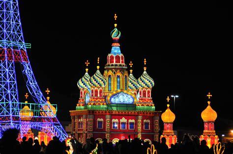 global winter wonderland combines holiday lights carnival