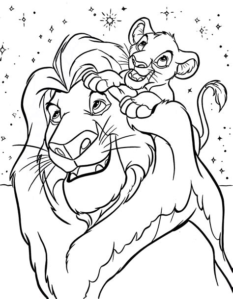 pages king free printable simba coloring pages for