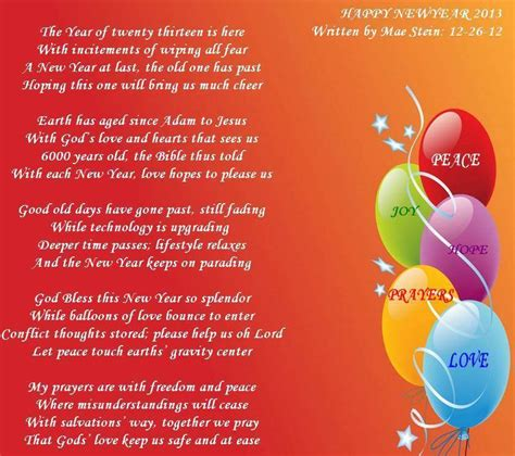 new year poem happy new year 2013 poems