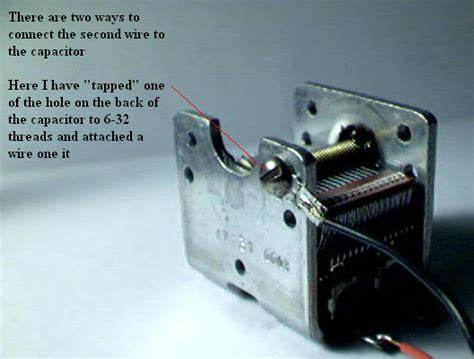 how to hook up a capacitor variable capicitor hook up