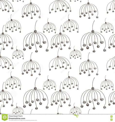 hand drawn flower pattern seamless vector floral pattern black and white hand drawn