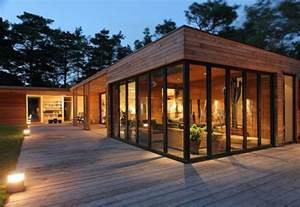 Prefab Interior Wall Panels Danish Atrium House Modern House Designs