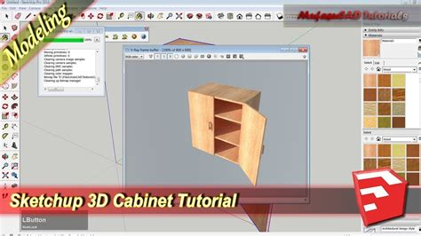 Tutorial Sketchup Vol 1 sketchup 3d modeling cabinet design tutorial practice exercise 1