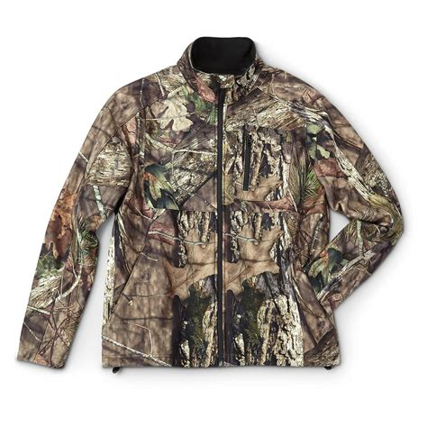 mossy oak guide gear s elite camo soft shell jacket mossy oak