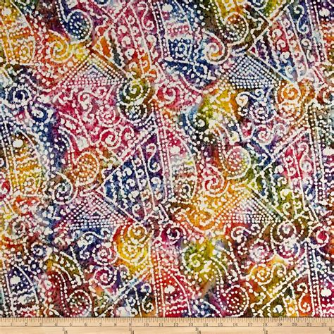 Batik Patchwork Fabric - indian batik crinkle cotton print ethnic patchwork bright