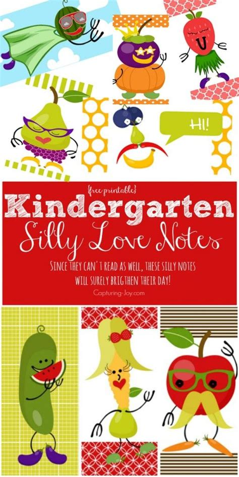 Kindergarten Lunchbox kindergarten silly notes lunch box notes lunch box