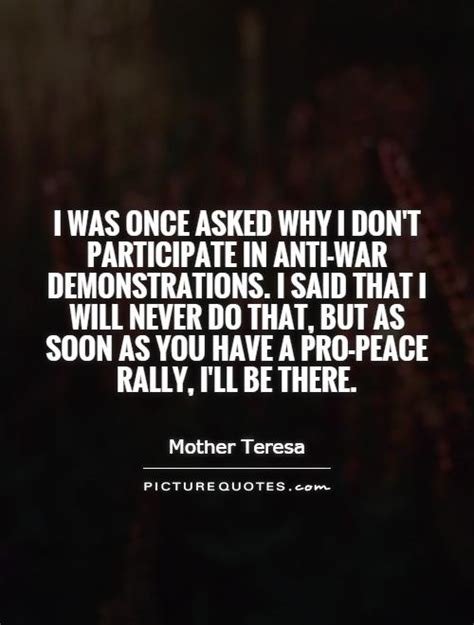 Why Was There Never A Part Ii by I Was Once Asked Why I Don T Participate In Anti War
