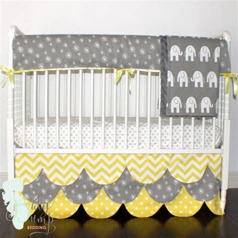 yellow and gray crib bedding baby bedding gray and yellow on pinterest