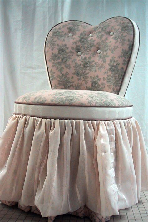 vanity stool with skirt heart shaped vanity chair with skirt