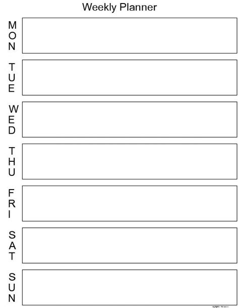 Galerry printable calendar day planner free