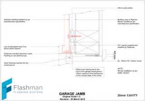 Garage Door Jamb Detail Flashman Flashings Flashclad