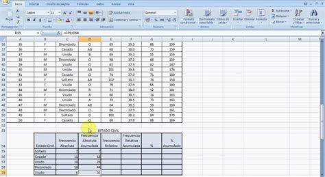 tabla de frecuencia variable cualitativa con excel youtube tabla distribuci 211 n de frecuencias a partir de una de