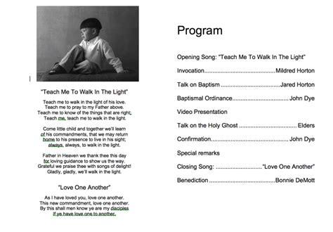 how to create and print a mormon baptism program mormon