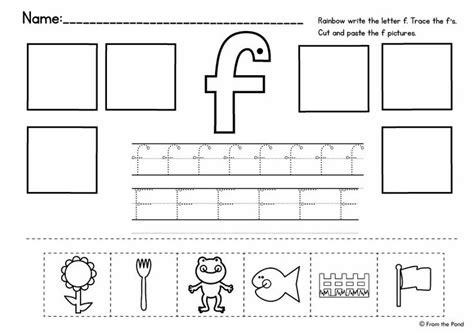 alphabet cut and paste reading pinterest