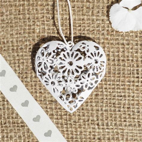 new hanging heart decorations vintage style heart shabby
