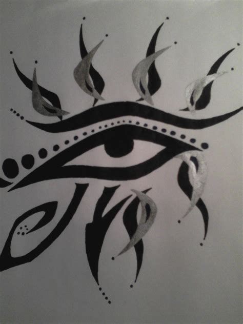 eye tribal tattoo illuminati eye images designs