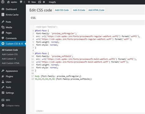 new design font css guide fonts