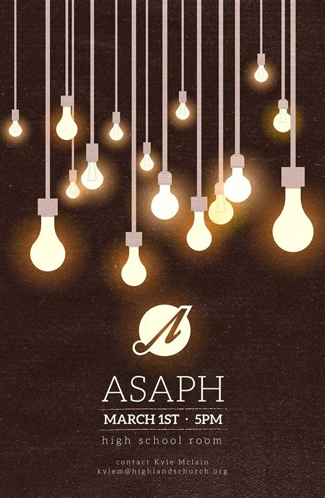 where the light is poster asaph ministry poster vintage light bulb poster