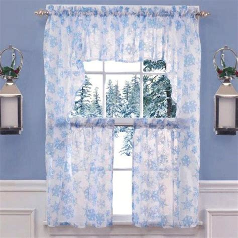 snowflake lace curtains 51 best christmas curtains images on pinterest candies