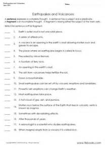 earthquakes and volcanoes grammar worksheet party