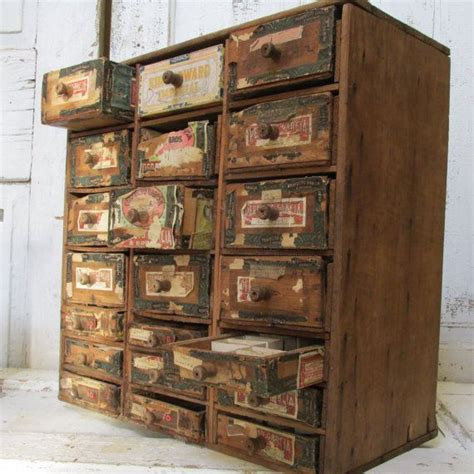 Cigar Box Drawers by Antique Cigar Box Cabinet Drawers Shabby Chic Rustic