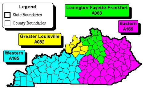 map kentucky area codes w e r kentucky zip code maps