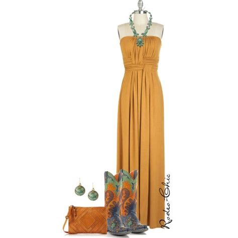 Rodeo Maxi by rodeo chic on polyvore maxi dress and cowboy boots by