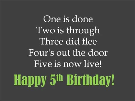 5th Birthday Quotes 5th Birthday Messages Wishes And Poems Holidappy
