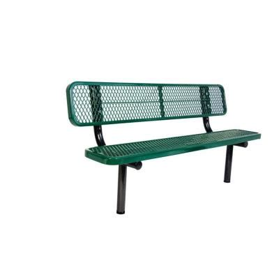 park bench brackets ultra play 6 ft diamond green in ground commercial park