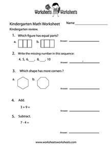kindergarten math practice worksheet free printable