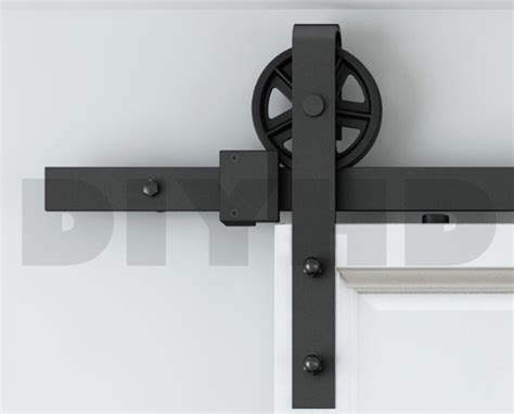 Barn Style Door Track System 5ft 6ft 8ft 10ft Vintage Style Strap Industrial Wheel
