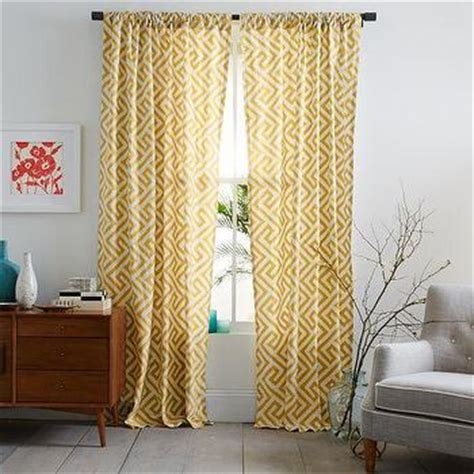 yellow ikat curtains jute ikat curtain panel aqua window panels cost plus