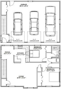 3 car garage dimensions 1000 ideas about garage apartment plans on pinterest