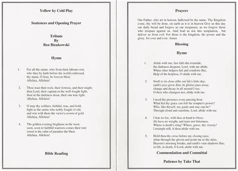 template for order of service funeral order of funeral services template the best free