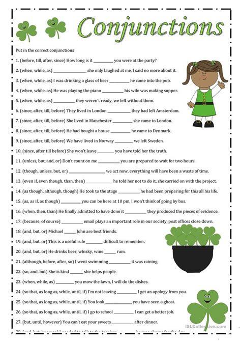 conjunctions worksheet virallyapp printables worksheets