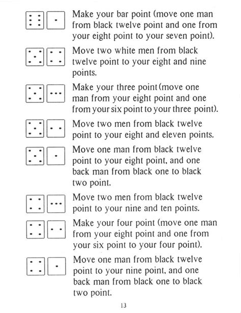 printable backgammon directions backgammon rules pdf download