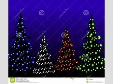Christmas Tree Lights At Night Royalty Free Stock Images ... Free Clipart Of Christmas Tree