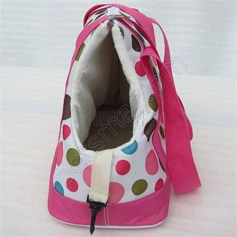 tote bag dog pattern pink dot pet travel carrier dog tote bag doggy handbag