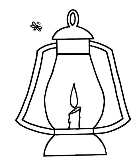 Lantern Coloring Page firefly and lantern coloring page color