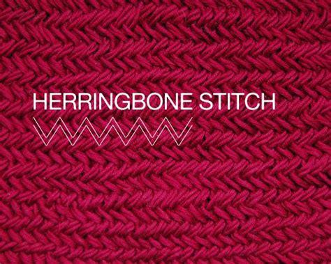 herringbone knit stitch herringbone stitch diy
