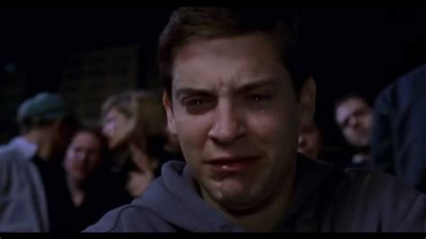 Peter Parker Meme Face - tobey crying youtube