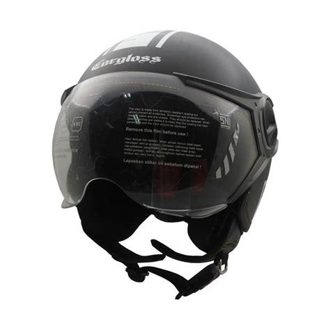 Helm Monton Black Glossy Original jual cargloss yr protect helm half black semi gloss harga kualitas