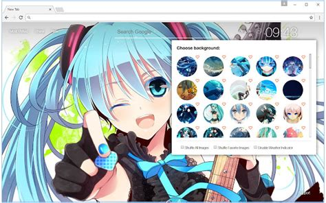 Hatsune Miku Wallpaper HD Vocaloid New Tab   Chrome Web Store